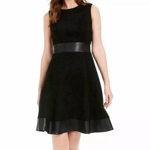 Calvin Klein NWT black for and flare dress